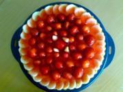 ** Kuchen & Co. ** Erdbeer - Bananen - Bisquitboden mit Puddingfüllung - Rezept