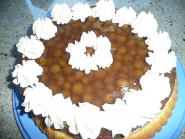 Stachelbeerkuchen mit Pudding - Rezept