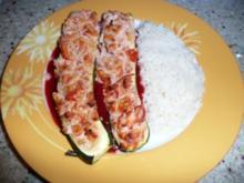 Frischkäse trifft Zucchini und Tomate - Rezept
