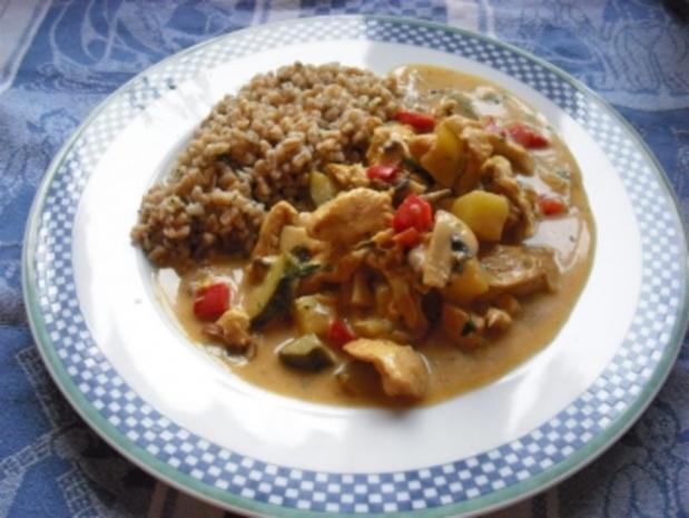 greeneye´s fruchtiges Hähnchen-Curry - Rezept
