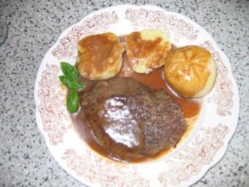 Hauptgericht: Rinder-Hüftsteak in Rotweinsoße - Rezept