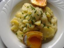 Fritierte Eier mit Spargel-Kartoffelsalat - Rezept