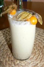 Bananen-Physalis Milchshake - Rezept