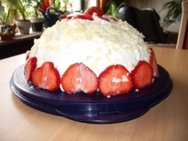 Torten: Erdbeerbombe - Rezept