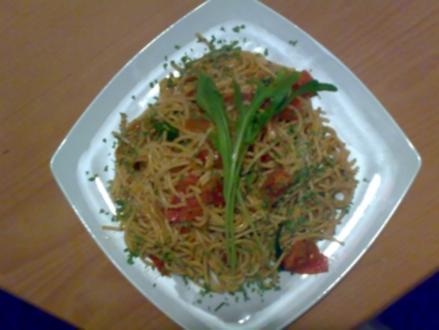 ** Pasta ** Spaghetti mit Rucola und Mozzarella - Rezept