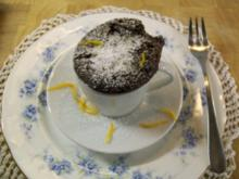 cupcakes mit flüssigem Schokokern - Rezept