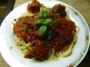 Spaghetti mit Thunfischröllchen - Rezept