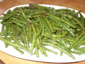 kleine grüne Schlangen(-bohnen) - Rezept