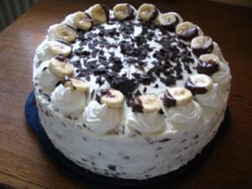 Bananen-Straciatella-Eierlikör Sahnetorte - Rezept