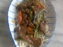 Chinesische Bratnudeln mit Rindfleisch - Rezept
