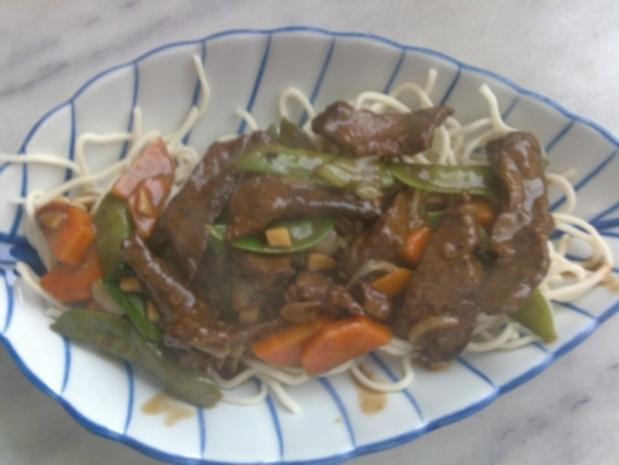 Chinesische Bratnudeln mit Rindfleisch - Rezept - Bild Nr. 2