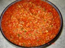 Scharfe Soße (Aci Meze) - Rezept