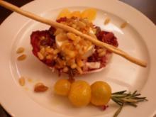 Ziegenkäse auf Radicchio an warmer Orangensoße - Rezept