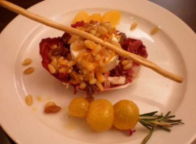 Salat radicchio ziegenkase