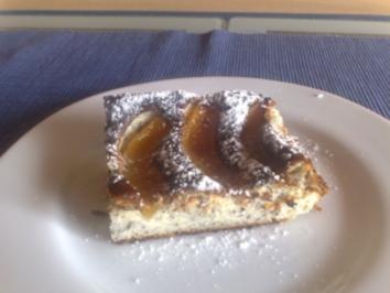 Pfirsich-Quark-Kuchen - Rezept