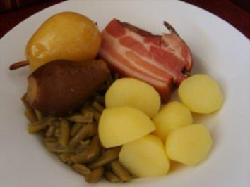 Birnen, Bohnen und Speck - Rezept
