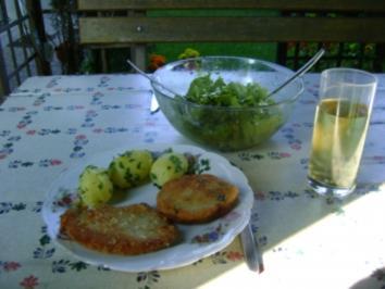 Parmesanschnitzl mit Petersilienkartoffel - Rezept