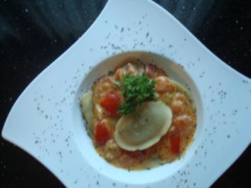 STEINPILZ-TORTELLINI  in Mozzarella-Tomaten-Sauce - Rezept - Bild Nr. 2