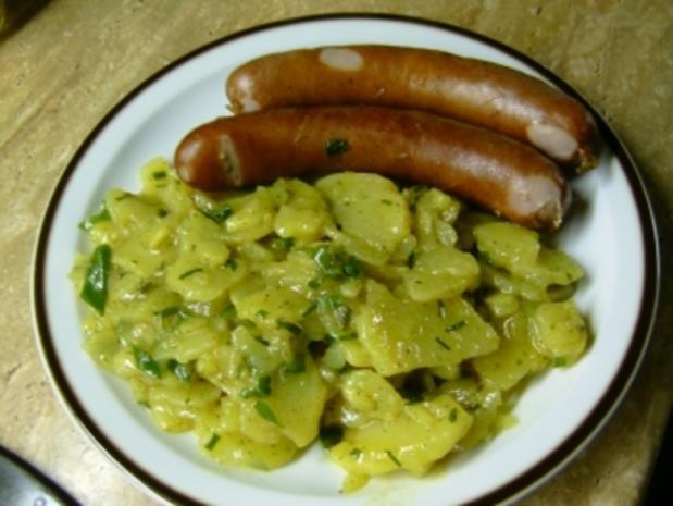 Bauernbratwurst mit Kartoffelsalat - Rezept - Bild Nr. 3