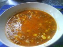 Mais-Suppe mit Hack - Rezept