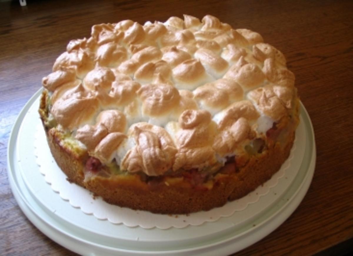 Rhabarber Baiser Kuchen Rezept