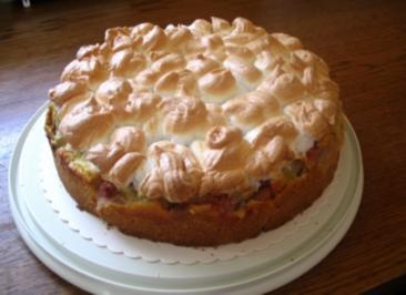 Rhabarber-Baiser Torte - Rezept