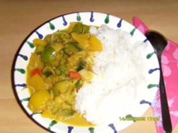 Gemüse - Curry aus dem Wok - Rezept