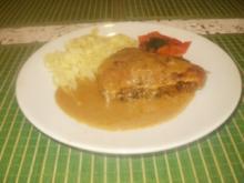 Schweinsschnitzel mit Champignonfülle - Rezept