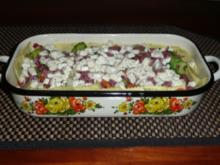 Ravioli-Auflauf mit würziger Salami - Rezept