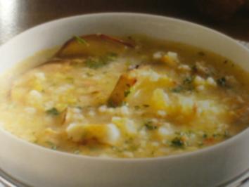 Rezept: Suppe --- Gemüsesuppe mit Graupen und Steinpilzen