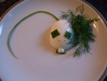 Hackigel und Eiermäuse - Rezept