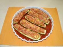 Vegetarisch gefüllte Zucchini - Rezept