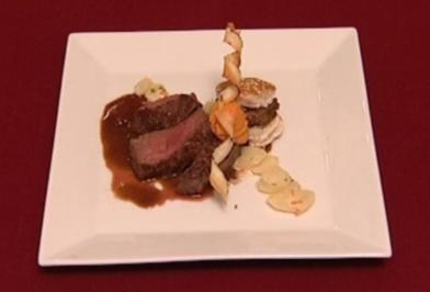 Burger und Filet vom Bison mit Schwarzwurzeln und Barbecue-Soße (Jörg Krusche) - Rezept