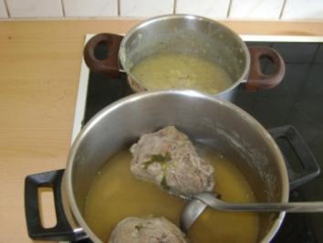 Gekochtes Rindfleisch mit Erdäpfelsauce - Rezept
