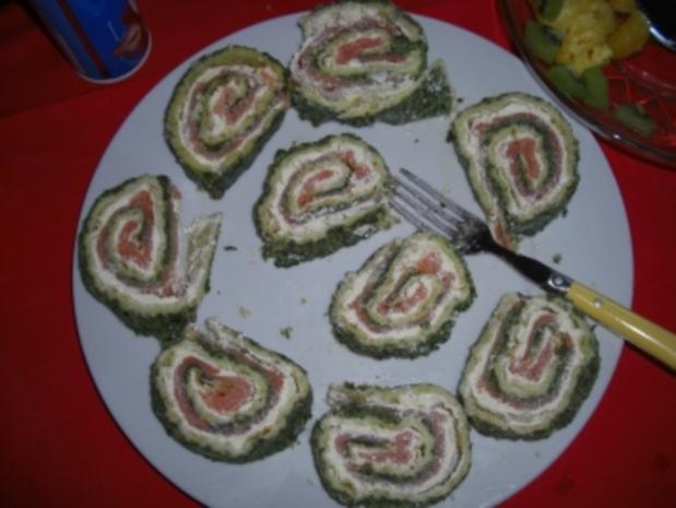 Fisch-Spinat-Käse-Lachsrolle - Rezept - Bild Nr. 2