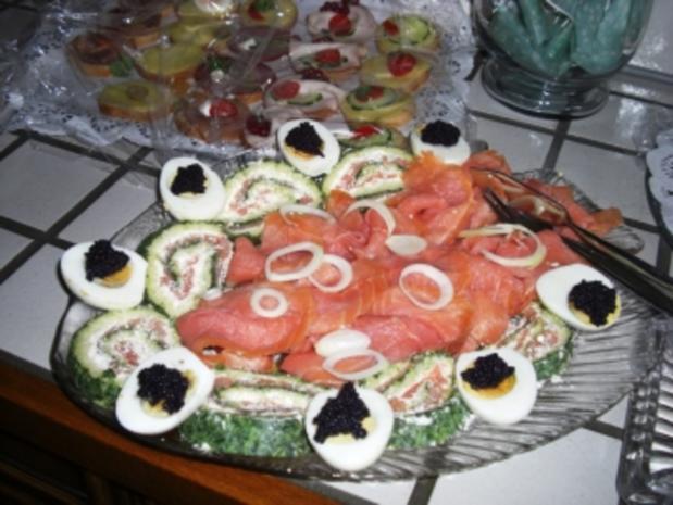 Fisch-Spinat-Käse-Lachsrolle - Rezept - Bild Nr. 3