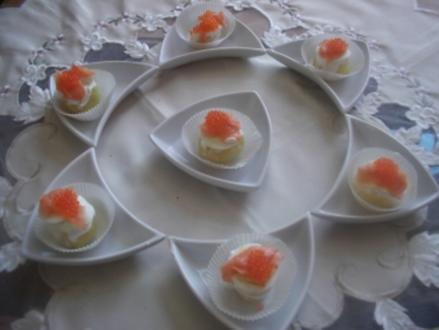 Kartöffelchen mit Lachs & Kaviar - Rezept