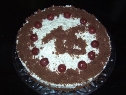 Kirsch- Sahne Torte - Rezept