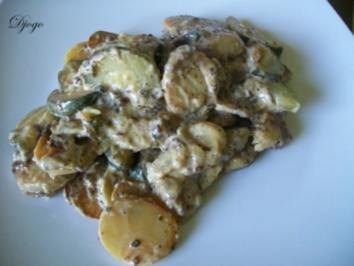 Kartoffel - Zucchini - Pfanne - Rezept