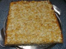 Apfel - Marzipan - Blechkuchen - Rezept