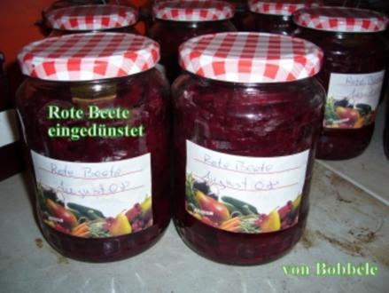 Eingemachtes: Rote Beete eingedünstet - Rezept