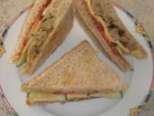 Cheeseburger-Sandwich - Rezept