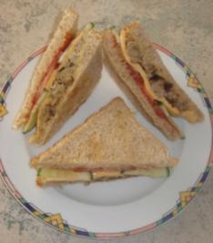 Rezept: Cheeseburger-Sandwich