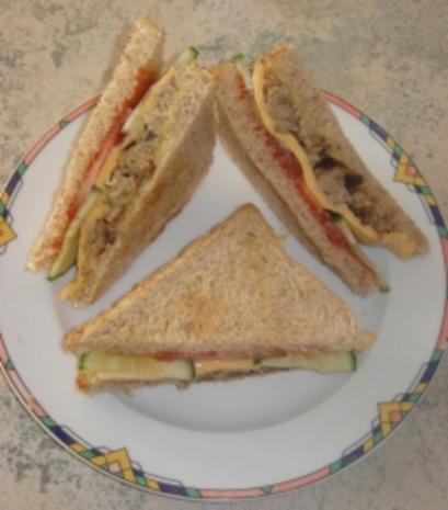 Cheeseburger-Sandwich - Rezept