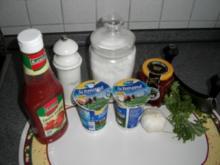 Ajvar - Kräuter - Knoblauch - Dip - Rezept