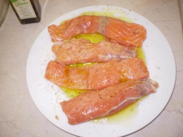 Leichte Küche Blattspinat mit Lachs und Reis - Rezept - Bild Nr. 3
