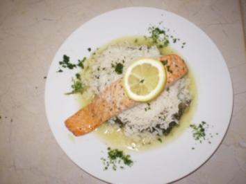 Leichte Küche Blattspinat mit Lachs und Reis - Rezept