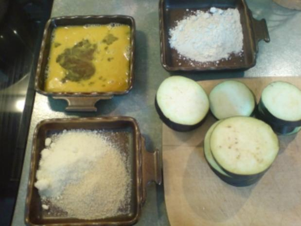 Auberginen in Parmesanhülle - Rezept - Bild Nr. 2