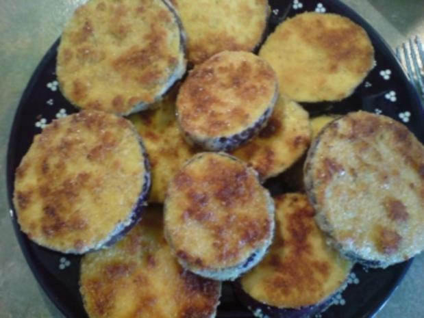 Auberginen in Parmesanhülle - Rezept