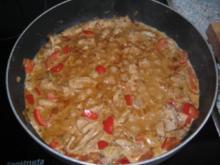 Schweinegeschnetzeltes mit Paprika - Rezept